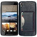 BYD-Blau HTC Desire 828w Tasche PULederCase Flip