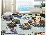 BZDHWWH Benutzerdefinierte Foto Boden Tapete Die Korallen Meer Tropischen Fisch 3 D Boden 3D Wandbild Pvc-Tapete Selbsthaftung Boden Wallpaer,140Cm X 200Cm