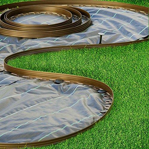 Bordura per aiuole verde chrispol system lunghezza 10 for Bordi per giardino
