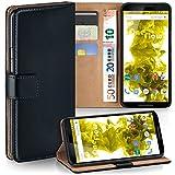 Nexus 6 Hülle Schwarz mit Karten-Fach [OneFlow 360° Book