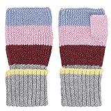 Becksöndergaard Damen Fingerlose Handschuhe Armstulpen Ember Block Grey Melange Grau Soft & wärmend aus - 1807503012-038
