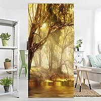Flächenvorhang Set Dreamland Natur Bäume Fluß Wasser Wald 250x120cm |  Schiebegardine Schiebevorhang Raumtrenner Vorhang Raumteiler Gardine