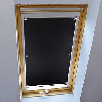 KINLO Store pour Fenêtre de Toit 57 x 100 cm Noir Velux Rideau ...