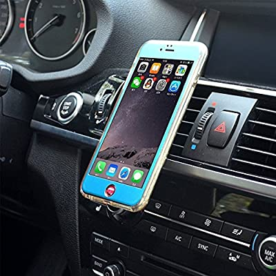 Car Mount, Universal Air Vent Handy Magnetic Car Mount Halter für iPhone 6s Plus 6s 5s Samsung Galaxy S7 und andere Smartphones (Gold)