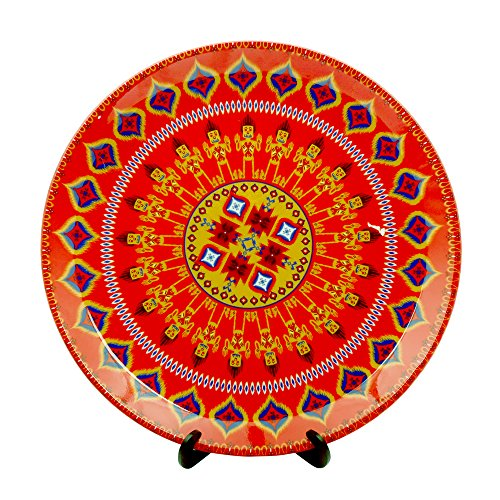 Kolorobia Dazzling Ikat Decorative Plate 7.5 inches
