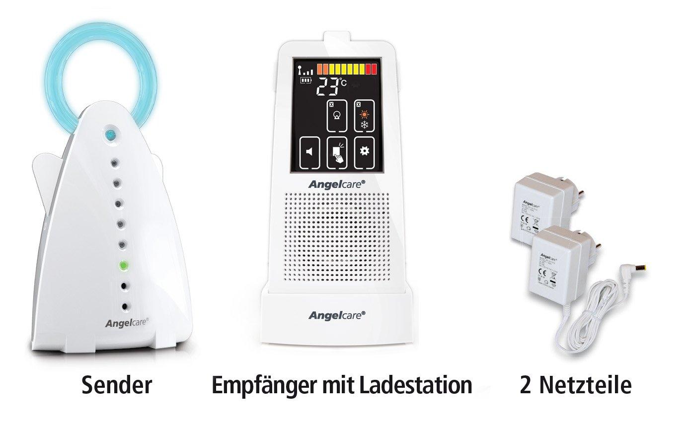 Angelcare AC720-D Audio Babyphone, 250 m Reichweite, Gegensprechen, weiß