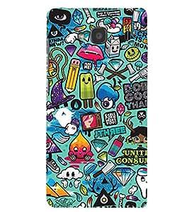 Printvisa Kiddish Colourfull Pattern Back Case Cover for Xiaomi Redmi 2S::Xiaomi Redmi 2::Xiaomi Redmi 2 Prime