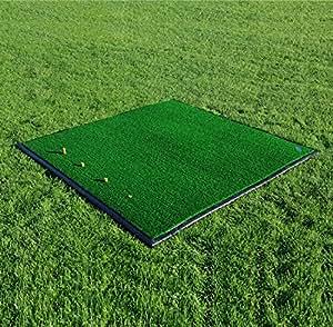 Net World Sports FORB Driving Range Golf Übungsmatte (150cm x 150cm) (Optional mit Anti-Rutsch Gummibasis) – Üben wie die Profis mit Dieser Abschlagmatte (Übungsmatte)