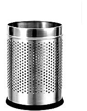 "Sssilverware Stainless Steel Perforated Open Dustbin/ Stainless Steel Garbage Bin/ - 5 Litre (7""X10"")"