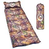 Matratze Isomatte tragbare Matratze reisematratze mit aufblasbares Kissen Sleeping Pad für Reisen Wandern Camp Apriller