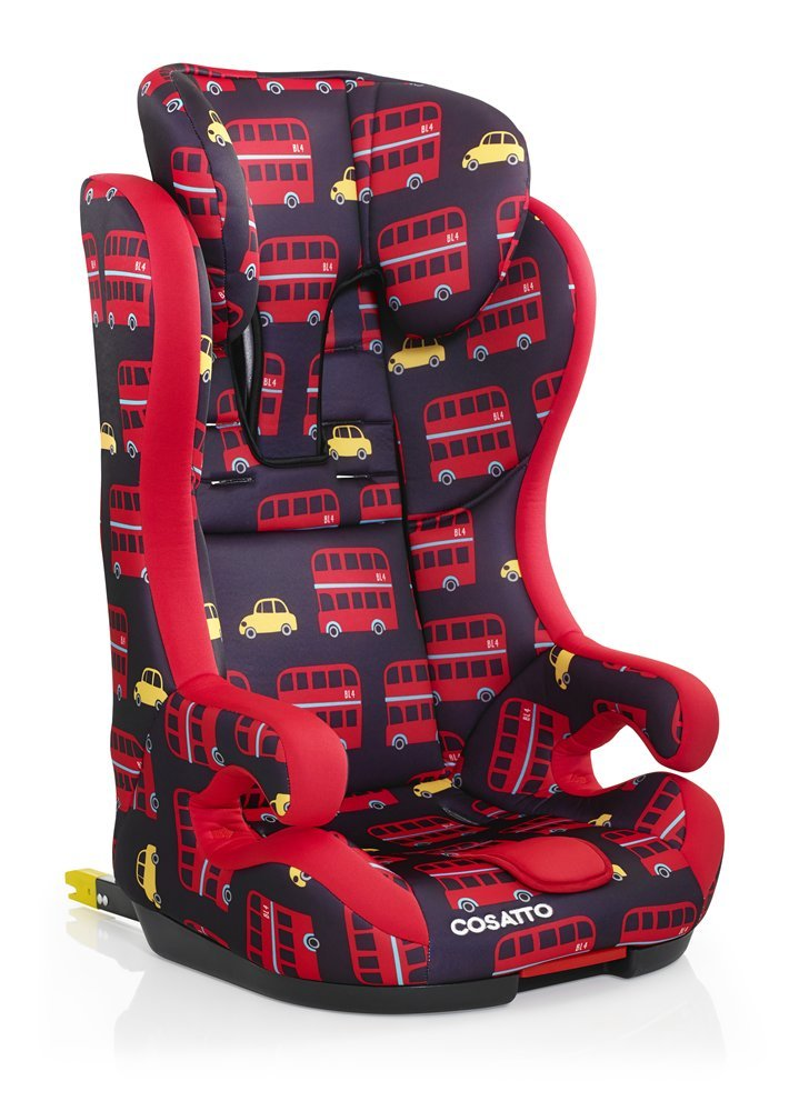 Cosatto Hubbub Isofix Car Seat Group 1 2 3, 9-36 kg, Hustle Bustle Cosatto Hubbub's that exceptional creature - a group 123 car seat with ISOFIX; this means you can just click and go-no reinstalling; suitable from 9 kg to 36 kg (group 123) Hubbub incudes patented five point plus anti-escape system, reduces harness escapes by 90 percent Side impact protection, with six position headrest; hubbub grows with your child; out pop-off squishy seat liner grows too; it is also reversible 2