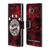 Head Case Designs Offizielle FC Bayern Munich Verzweifelt 2017/18 Muster Brieftasche Handyhülle aus Leder für Samsung Galaxy S8