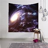 Sterne Weltraum Wandteppich Wanddeko Wandbenhang Wandtuch Tischdecke mit Bild von Milchstraße Dekoration für Schlafzimmer Wohnzimmer HYC06(1#)