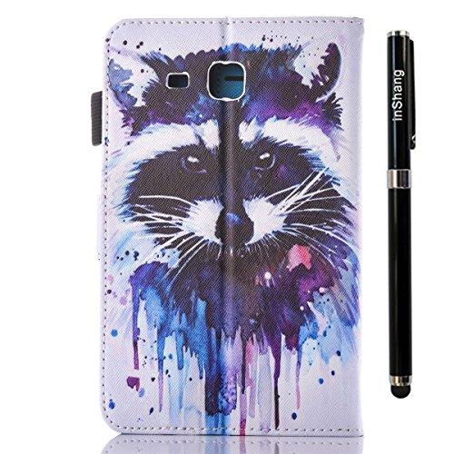 inShang T280 Cover für Samsung Galaxy TAB A 7.0 Inch T 280 Hülle mit PU Leder Skins Etui Schutzhülle Ständer Smart Case Cover, + inShang Logo hochwertigen Stylus Eingabestift Stift