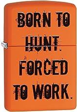 Zippo 29269 Born to Hunt Matte Cigarette Lighter (Orange)