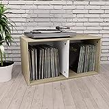 UnfadeMemory Caja de Almacenamiento para Discos de Vinilo para Mantener Organizada Colección de Música,Caja de Transporte,Arm