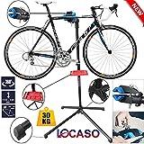 LOCASO Safekom - Kit de Herramientas para Bicicleta, Plegable, Resistente, para Reparación de Ciclismo, Mantenimiento mecánico, Soporte de Trabajo, para Bicicleta, Color Azul