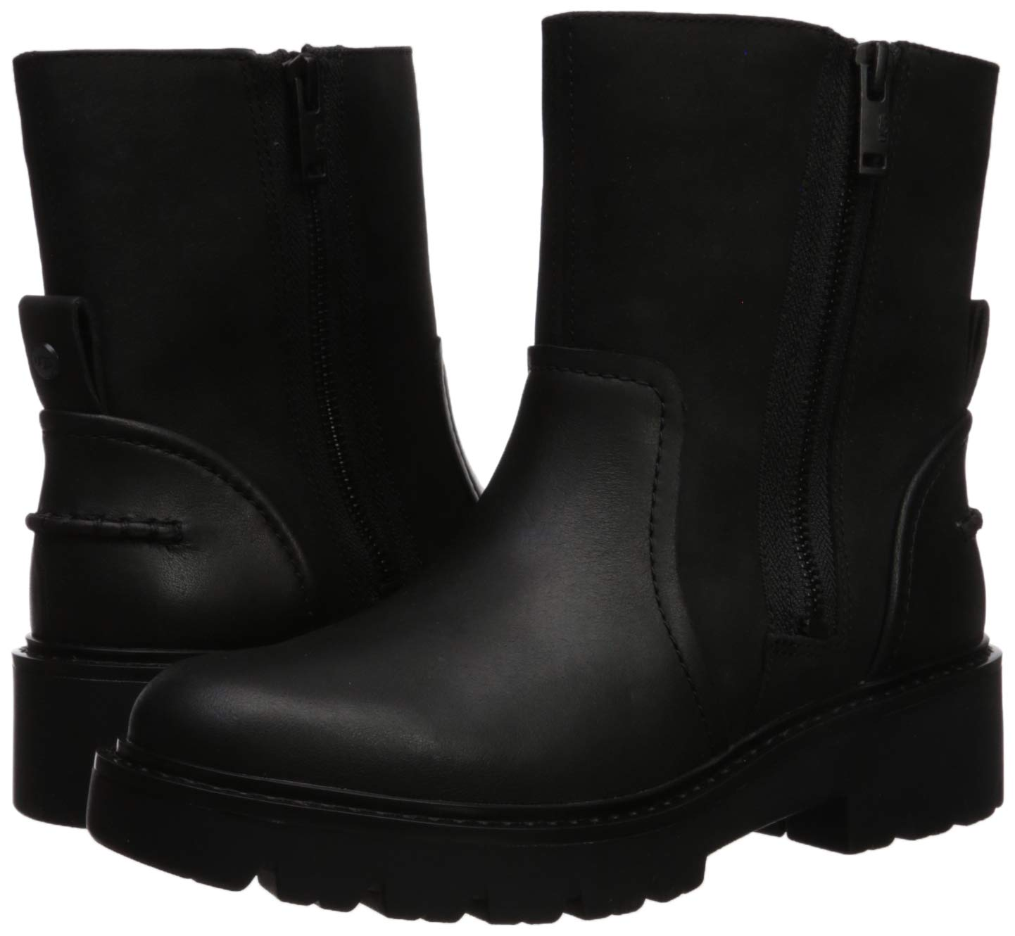 UGG Women's Polk Combat Boot, Black, 7.5 M US 6
