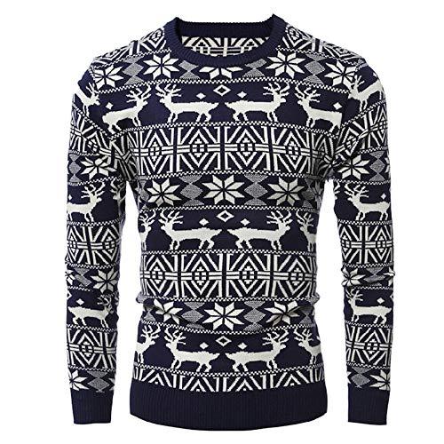 Bealeuy Herren Hoodie Sweatshirt Weihnachten Rentier Stil Plus Samt Warm bleiben Neu Winter Männer Pullover Mode Kapuzenpullover Tasche Lange Ärme Outwear Pullover mit Kapuze Slim