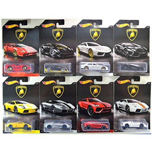 Hot Wheels Lamborghini 8 Fahrzeuge im Set - Sonderedition 2017 Fahrzeuge im Maßstab 1 : 64