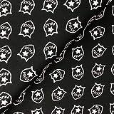 - Stoff - Jersey Polizei schwarz/weiß - Meterware - 1 m x