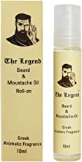 The Legend Ayurvedic Blend Beard and Moustache Oil Roll on for Growing Faster (10ml)