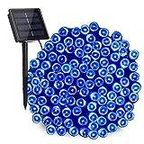 NEXVIN Solar Lichterkette Aussen - 20M 200 LED Solarlichterkette, Wasserdichte Au?enlichterketten, 8 Modi Solar Beleuchtung für Garten, Terrasse, Zaun, Party, Weihnachten Deko (Blau)