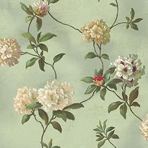 york-wallcoverings-ha1289-green-portatil-rododendros-script-wall-paper-spa-green-white-gold-by-york-