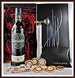 Geschenk Set Glenfiddich 12 Jahre Whisky + Flaschenportionierer + 10 Edel Schokoladen von DreiMeister & DaJa + 4 Whisky Fudge kostenloser Versand