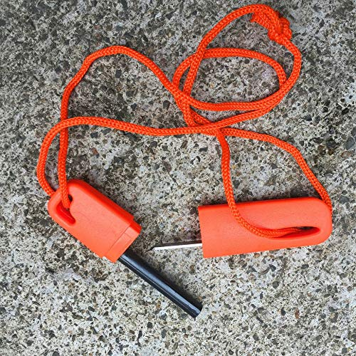IanqAzwibvd-UK Wilde Überlebensnot Feuerstein Stick Outdoor Magnesium Strip Feuerwaffe orange