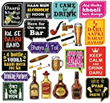 #5: SYGA Large Beer Party Photo Booth Props Craft Item, Multi Color (Set of 29)