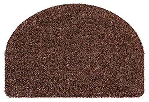 andiamo 700637 Fußmatte Samson / Halbrunde Sauberlaufmatte aus Baumwolle in Braun / Schmutzmatte mit rutschhemmendem Rücken / 1 x Türmatte (50 x 75 cm)
