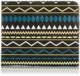 Paperwallet – Portafogli in Carta Tyvek Unisexe per Uomo e Donna – Motivo Azteco Messicano - Vegano, Riciclabile & Durevole