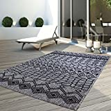 carpet city Teppich Flachflor Modern Outdoor Fest Geknüpft Outside Sunset Vintage Grau 200x290 cm