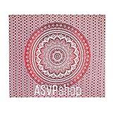 ASVP Shop Wandteppich /Überwurf/Tagesdecke, indischer Stil, Mandala, Hippie, groß  rot