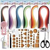JUYA Paper Quilling Kits avec 30 couleurs 600 Strips et 8 Outils Rose Outils, Largeur...