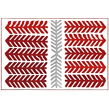 TangMengYun Red Pine Branches Polyester Rugs, Nordic Minimalist Red Carpet, Creative Fashion Non-Slip Bedside Carpet Living Room Large Carpet ( Size : 300*200CM )