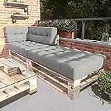 MSS® 4er-Set/Einzelkissen Relax Palettenkissen Palettenauflage Anthrazit hell & dunkel