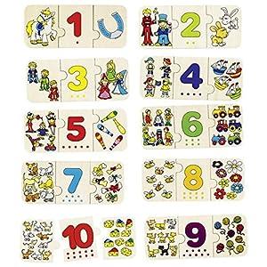 Goki-57594 Puzzles de maderaPuzzles de maderaGOKIPuzzle, Contar y clasificar, Multicolor (57594.0)