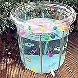 Da Jia Inc Aufblasbare Baby Badewanne faltbar Runde Badepool Planschbecken Schwimmbecken für Baby und Kleinkinder