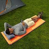 AmazonBasics Luftmatratze, selbstaufblasend, lang (195 cm) -