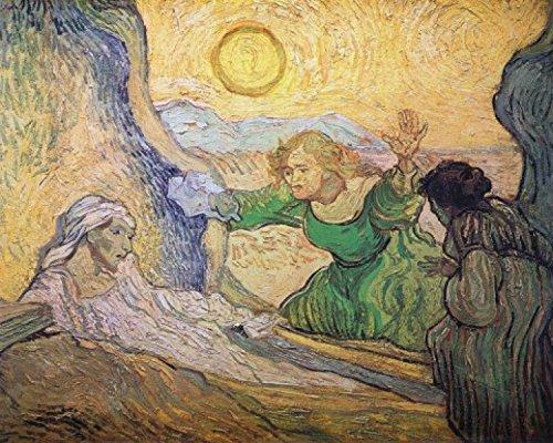 Vincent Van Gogh - The Raising Of Lazarus After Rembrandt, 1890 Stampa D'Arte (50 x 40cm)