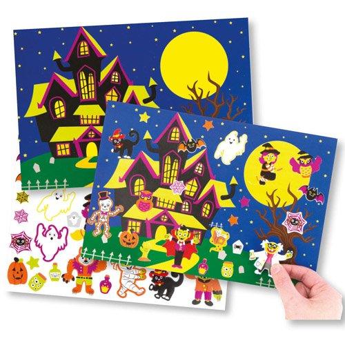 (Bilder und Aufkleber Halloween für Kinder als Bastel- und Deko-Idee Zum Gestalten zu Halloween für Jungen und Mädchen (4 Stück))