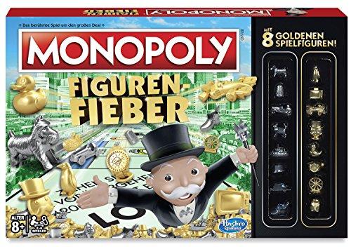 Monopoly – Figuren Fieber (Brettspiel-Klassiker mit 8 goldenen Zusatzfiguren)