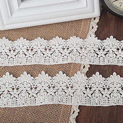 Weiß 3Meter Gorgeous Baumwolle Venise Spitze Stoff Spitzenbesatz Kostüme Supplies 5,1cm (Weiße Kostüme Kontakte)