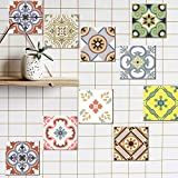Shackcom Adesivo per Piastrelle Tile Stickers In PVC Impermeabile Autoadesivo Adesivi Murali Decorazione per La Stanza Da Bagno e Cucina Wall Stickers Fai da Te Set di 20 Pezzi 15x15cm DT002