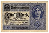 Banknoten Darlehenskassenschein 5 Mark, Deutsches Reich, 1917, Nr. Y.10939417