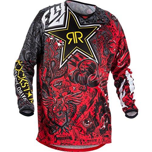 371-661X - Fly Racing 2018 Kinetic Rockstar Motocross Jersey XL Black White Red (Kinetic Racing Mesh Fly)