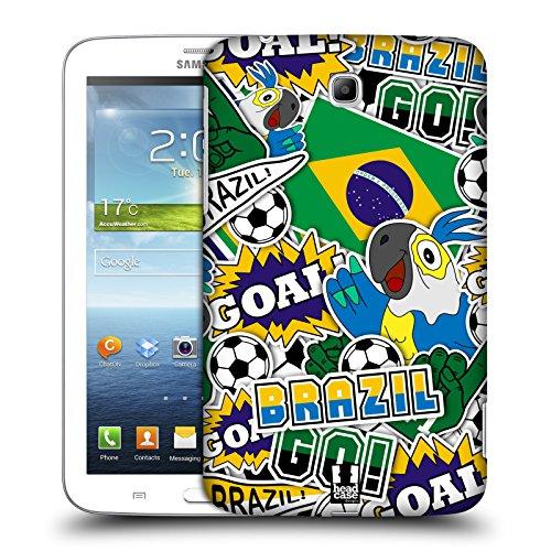 Head Case Designs Pattern Margherite Strisce Floreali Fashion Cover Morbida In Gel Per Apple iPhone 7 Plus / 8 Plus Brazile