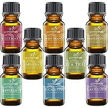ArtNaturals Aromaterapia Top 8 Aceites esenciales, 100% puro de la más alta calidad, hierbabuena / árbol de té / romero / naranja / limoncillo / lavanda / eucalipto / incienso, grado terapéutico ArtNaturals Aromatherapy Top 8 Essential Oils, 100% Pure of The Highest Quality, Peppermint/Tee Tree/Rosemary/Orange/Lemongrass/Lavender/Eucalyptus/Frankincense, Therapeutic Grade